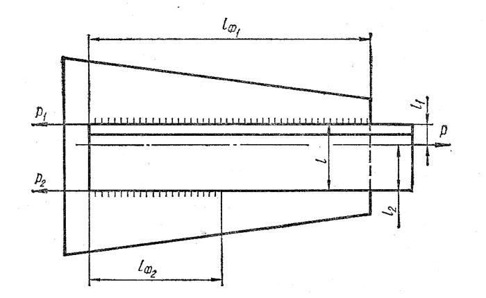 Схема несимметричного расположения швов относительно линии действия силы