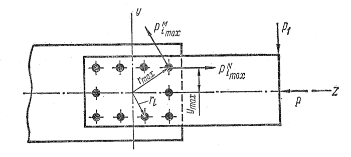 Чертеж стального шва точечного соединения