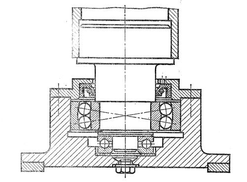 Нижняя опора колонны