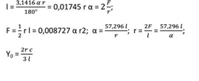 формулы сектор